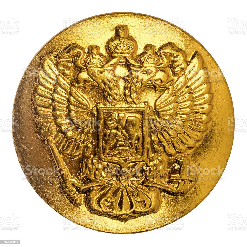 Double-headed eagle. Soat of arms of the Russian Federation. stock photo