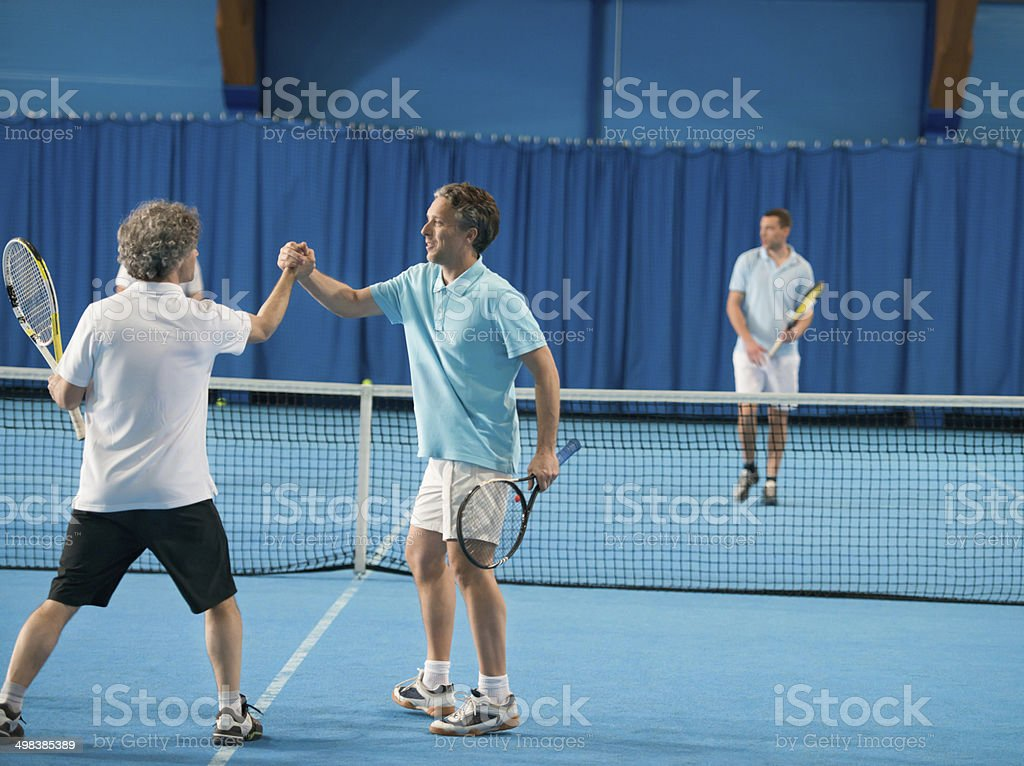 Doubles Match royalty-free stock photo