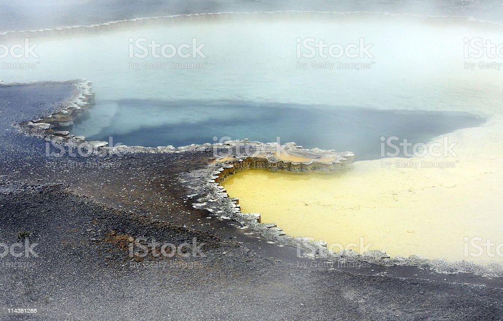 Doublet Pool in Yellowstone royalty-free stock photo