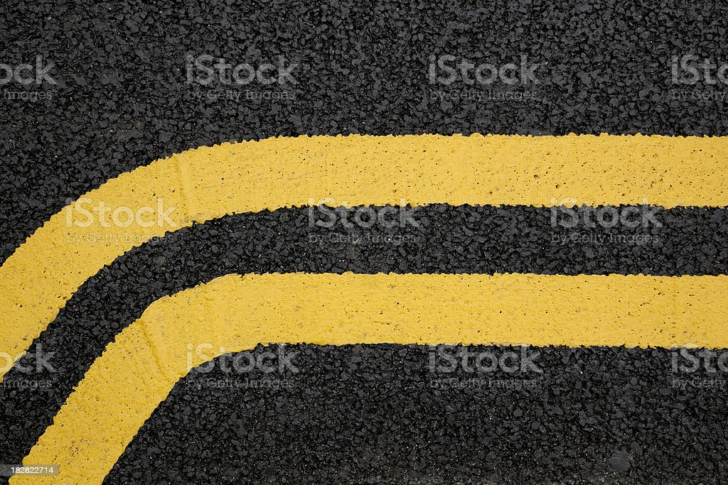 Double-yellow lines royalty-free stock photo