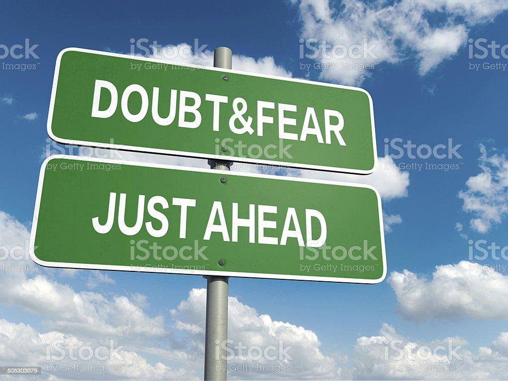 doubt fear stock photo