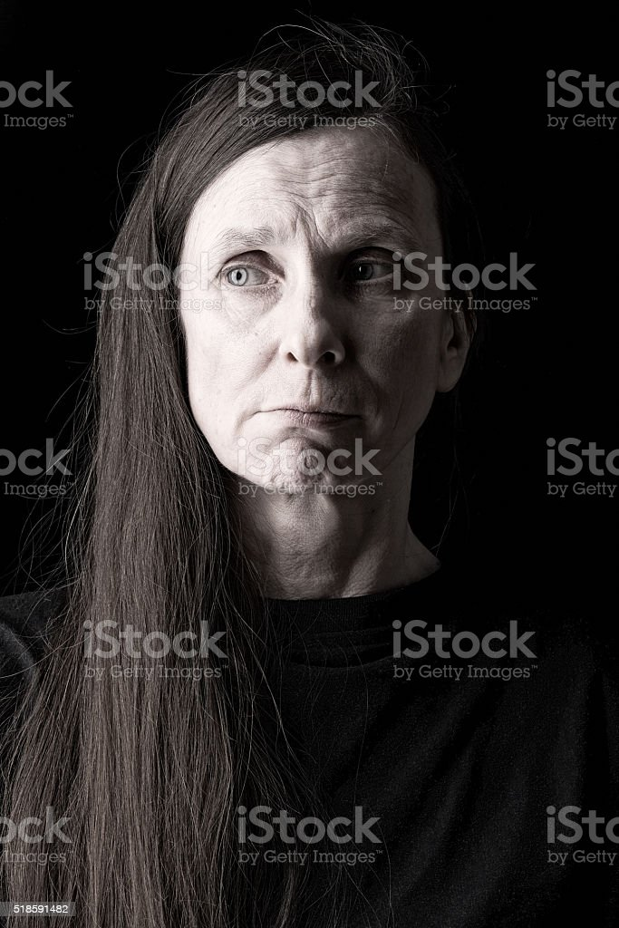 Doubtful Adult Woman Expression stock photo