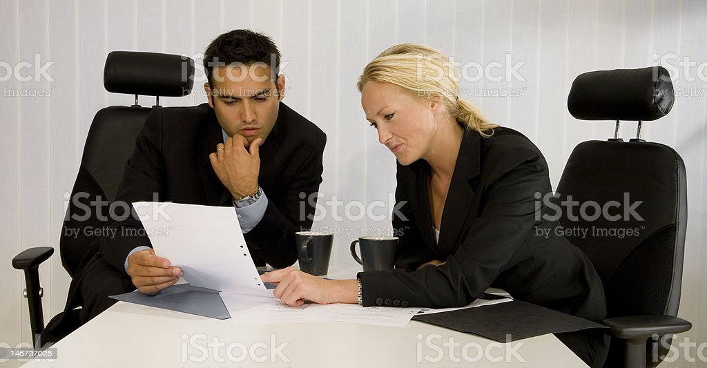 Doubtful Businesspartners royalty-free stock photo