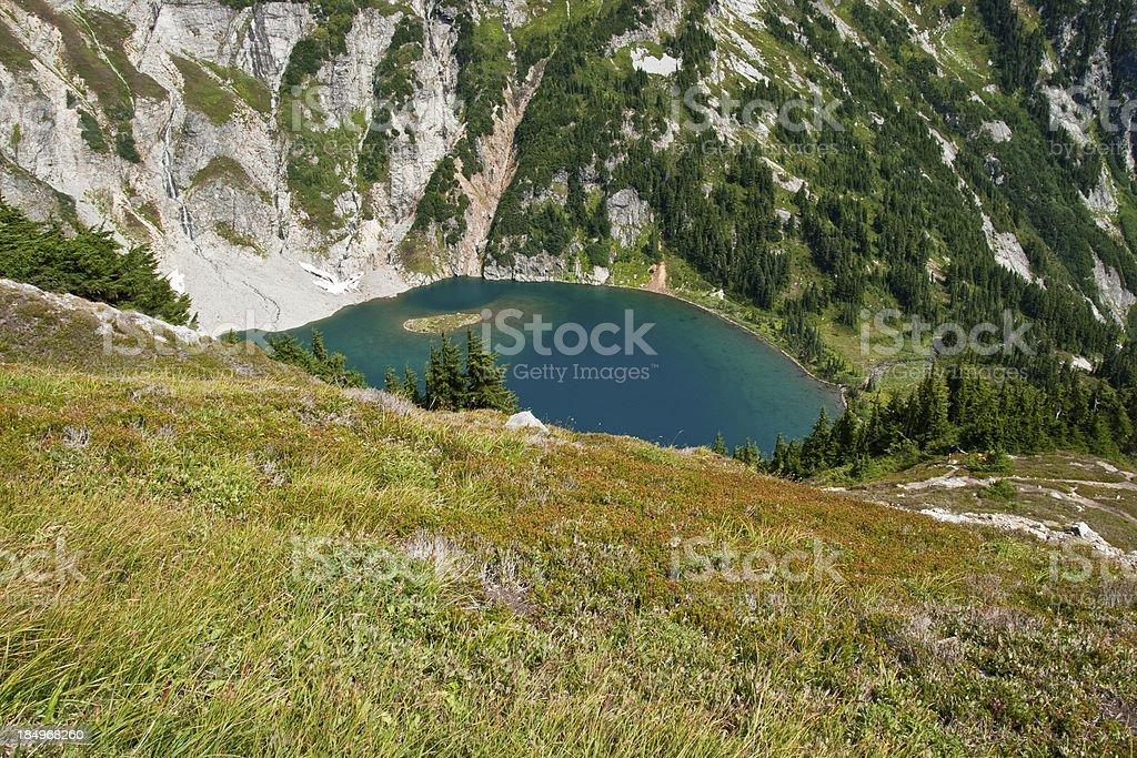 Doubtful Lake from Sahale Arm stock photo