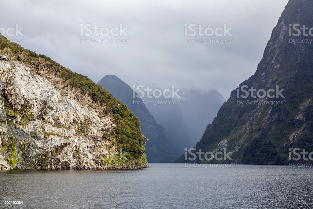 Doubtful Sound - Fjordlands National Park stock photo