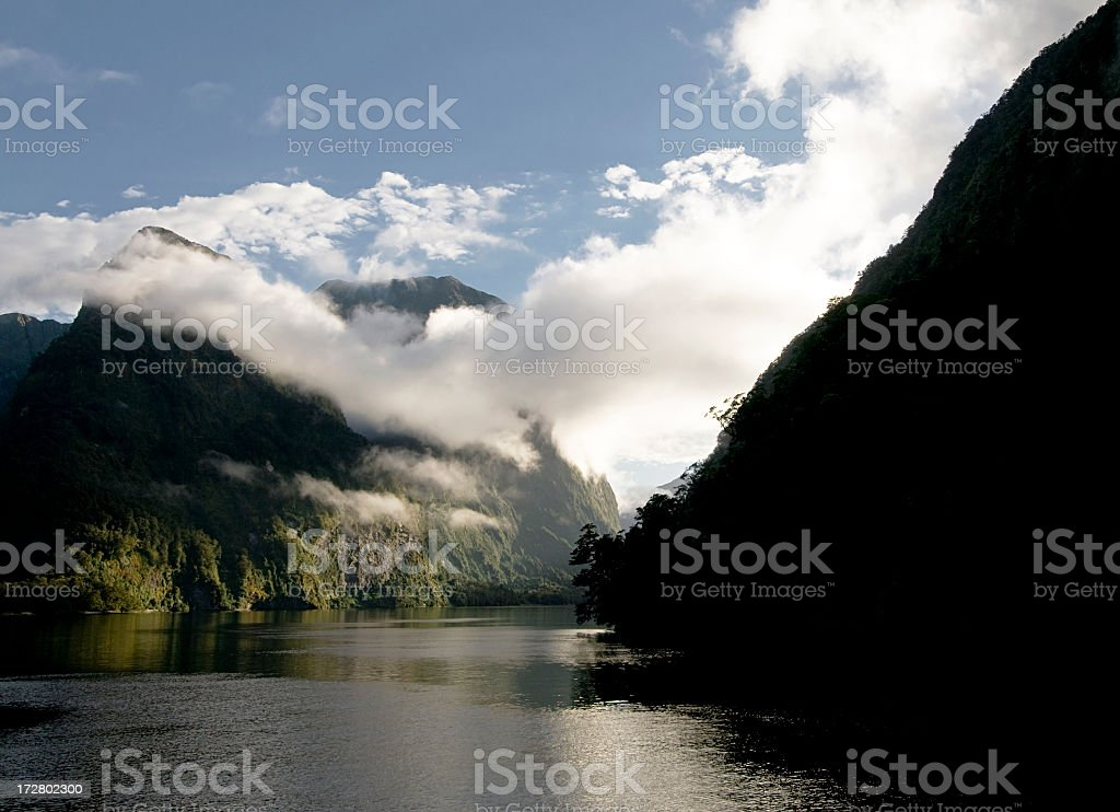 Doubtful Sound Morning stock photo