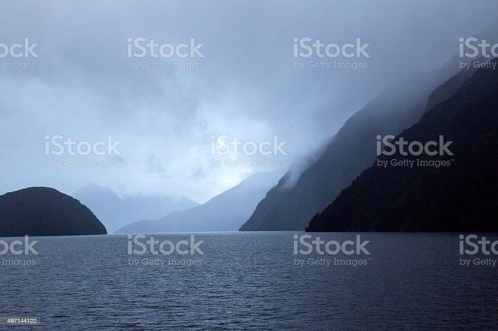 Doubtful Sound - New Zealand stock photo