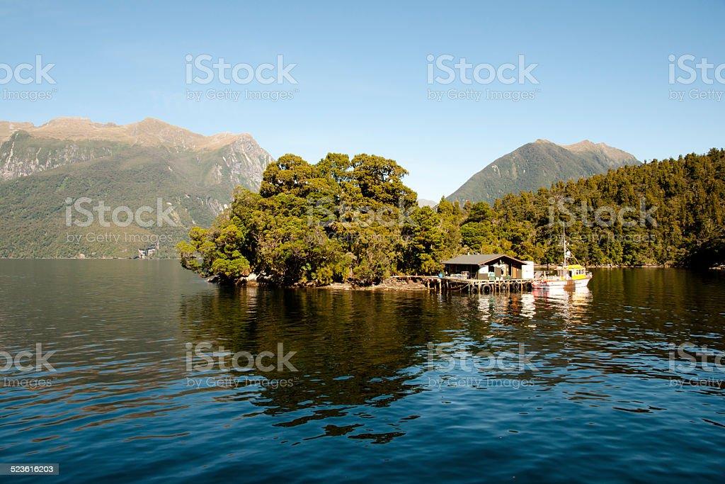 Doubtful Sound - New Zealand stock photo