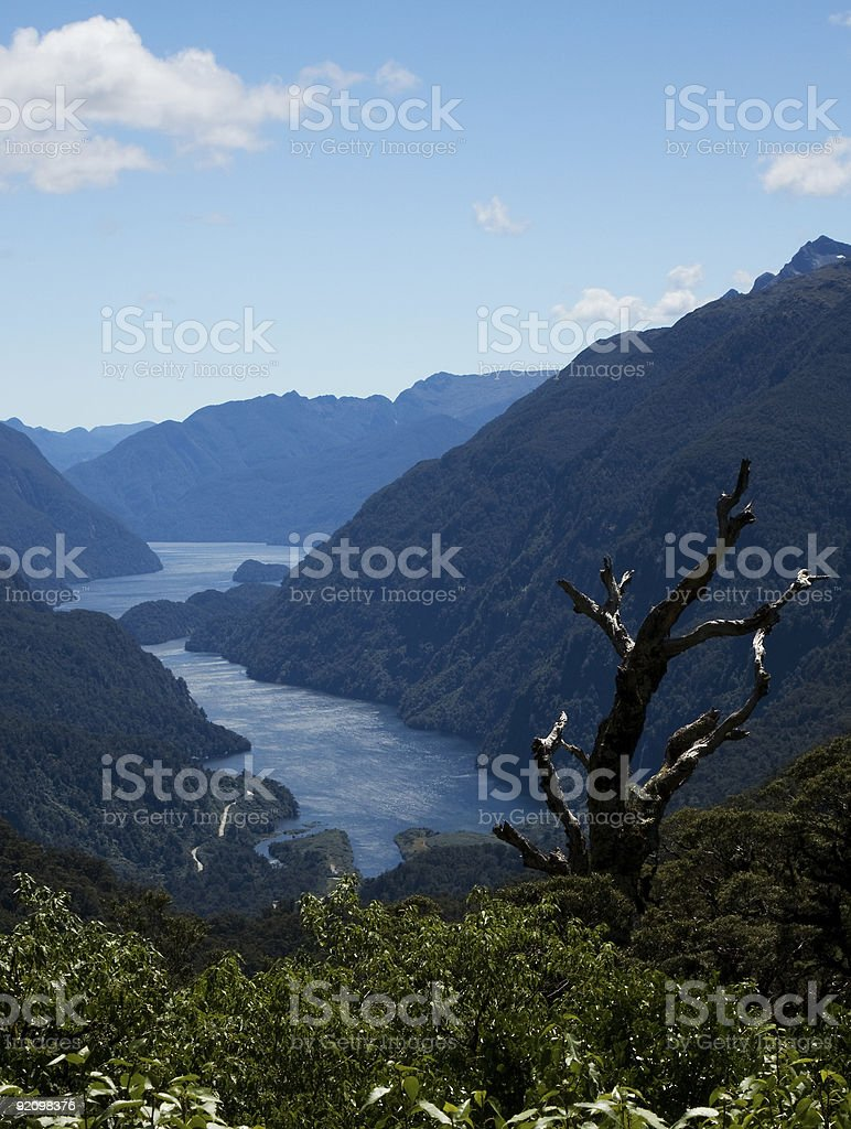 Doubtful Sound New Zealand stock photo