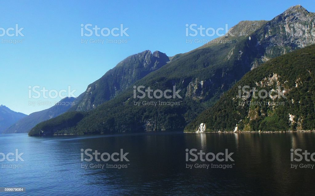 Doubtful Sound, South Island N.Z. stock photo