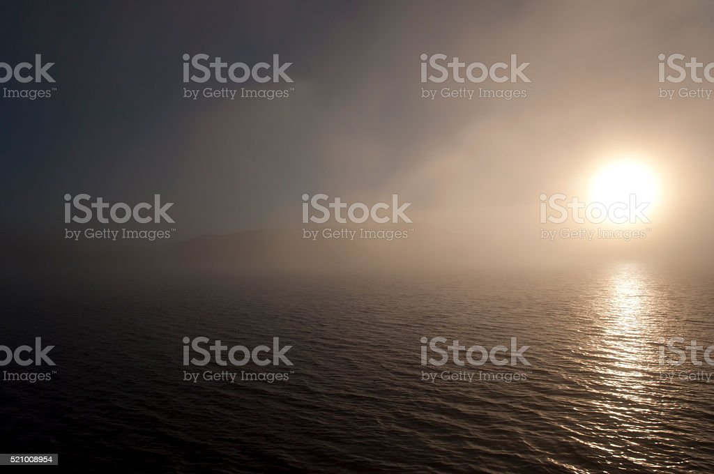 Doubtful Sound Sunrise - New Zealand stock photo