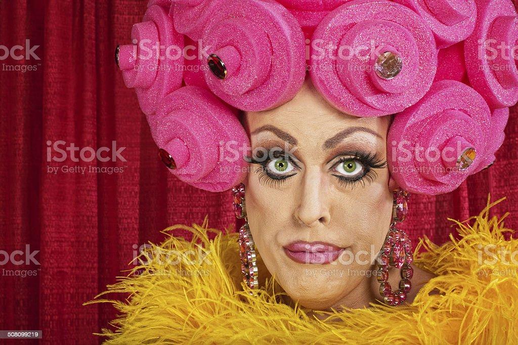 Doubting Drag Queen stock photo