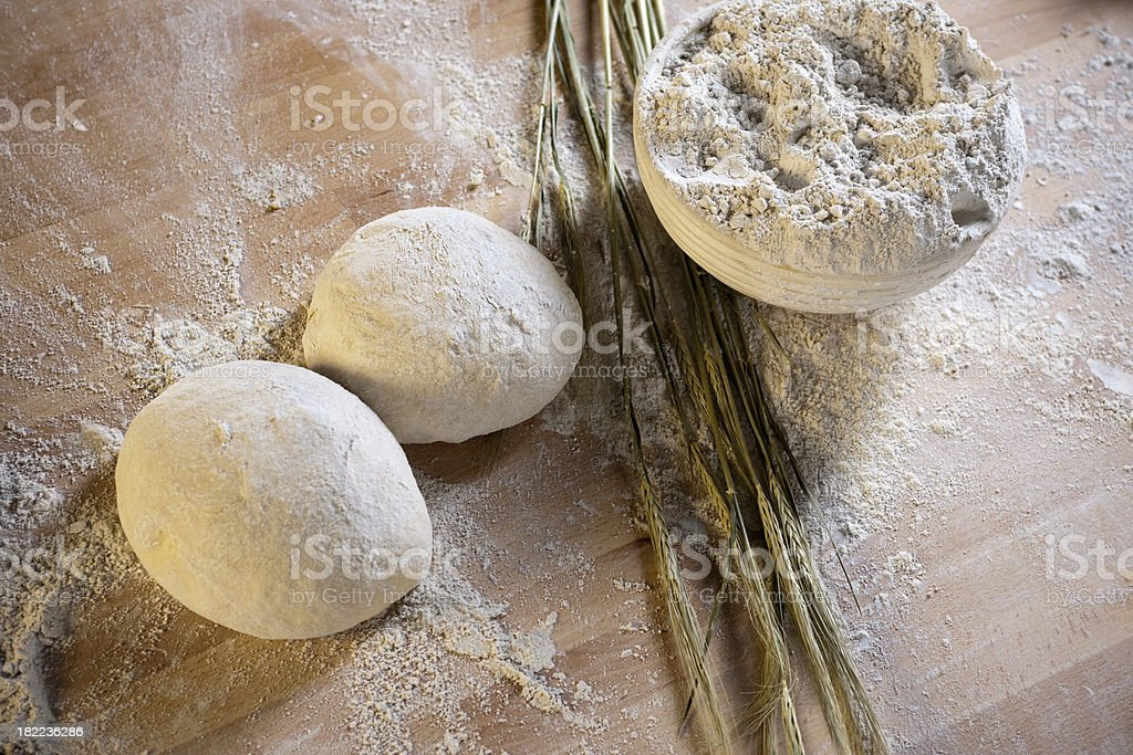 Dough and corn royalty-free stock photo