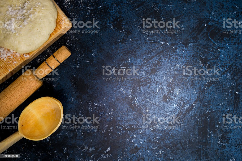Dough and nuts stock photo