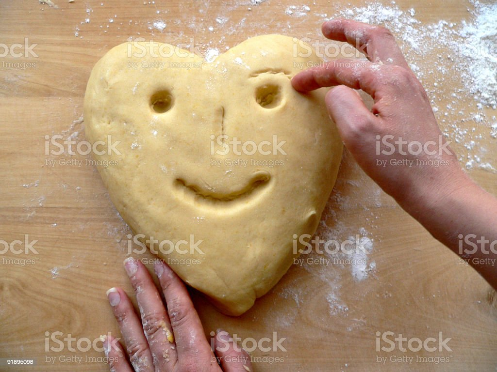 Dough heart royalty-free stock photo