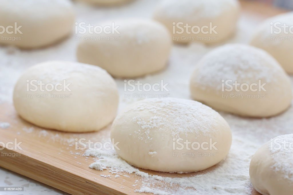 Dough made for cooking pastries stock photo