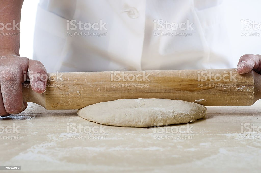 dough making stock photo