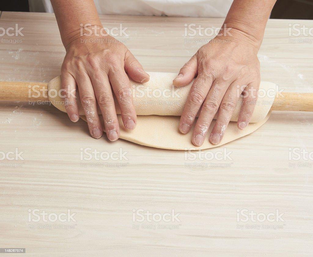 Dough preparation royalty-free stock photo