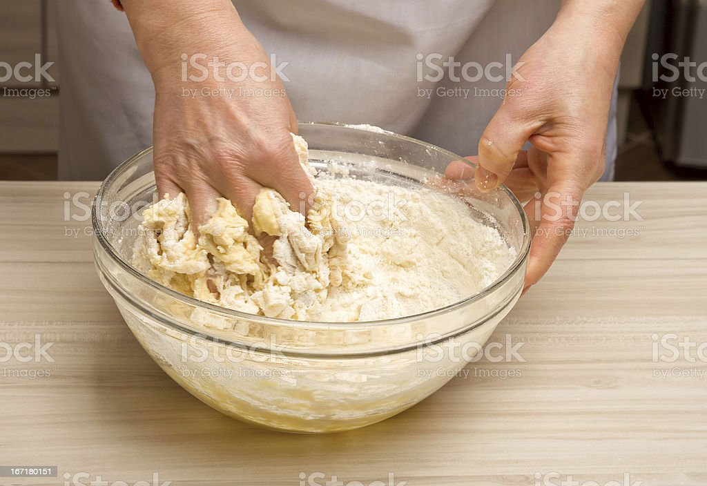 Dough preparation royalty-free stock photo