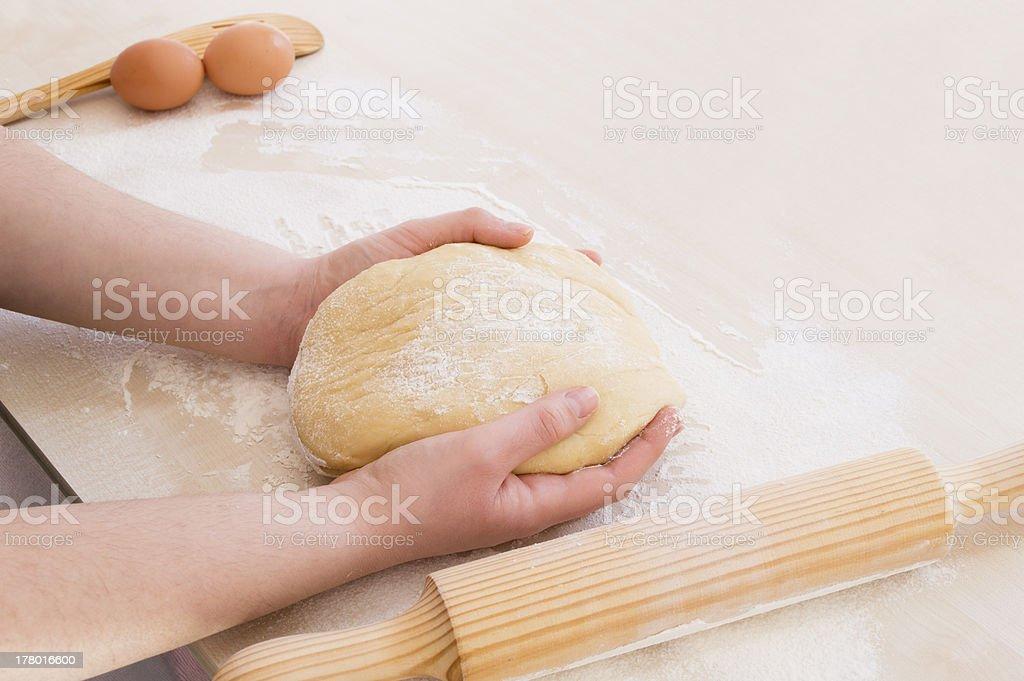 dough ready to knead royalty-free stock photo