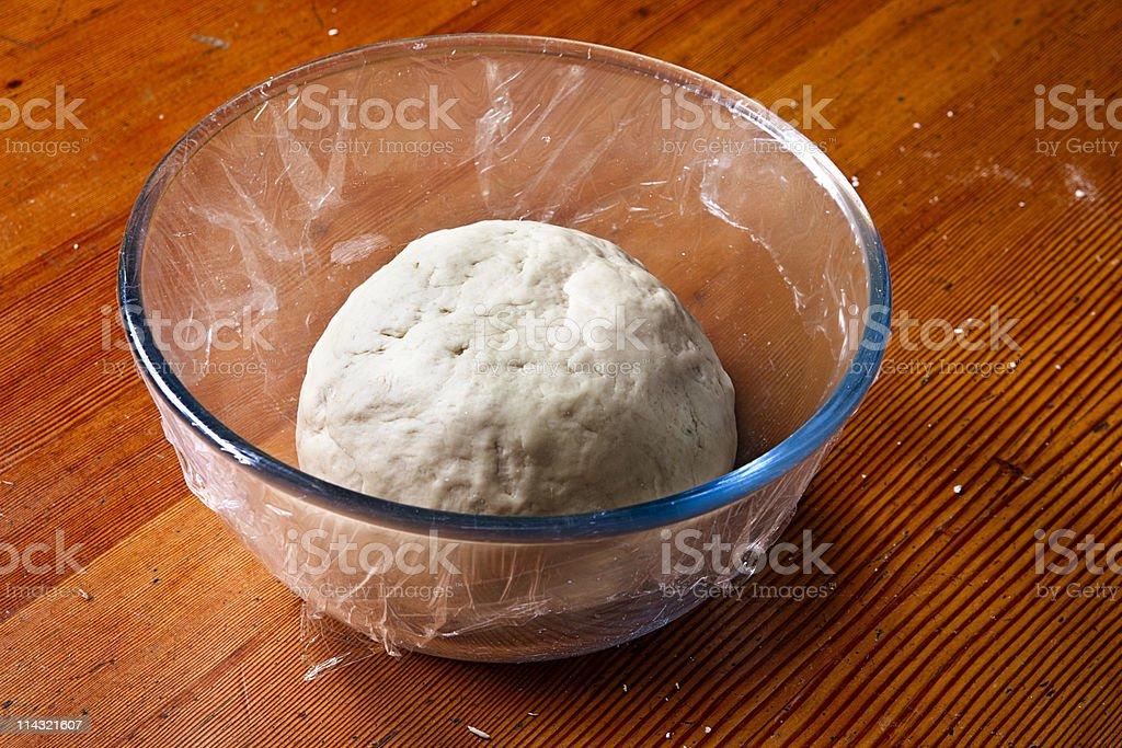 Dough rising royalty-free stock photo