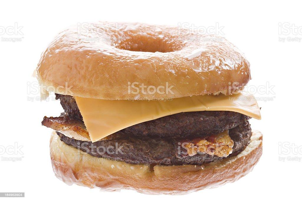 Doughnut Bacon Cheeseburger stock photo