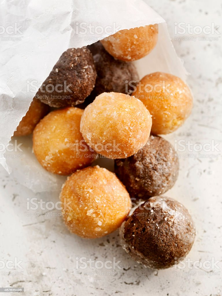 Doughnut holes stock photo