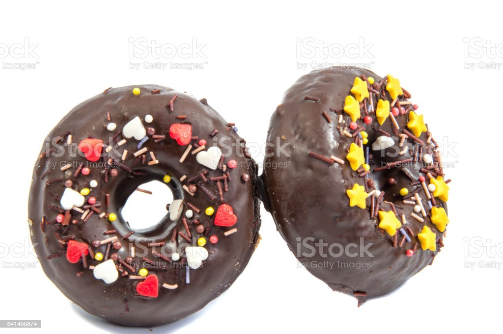 doughnut or donut isolated on white background cutout stock photo