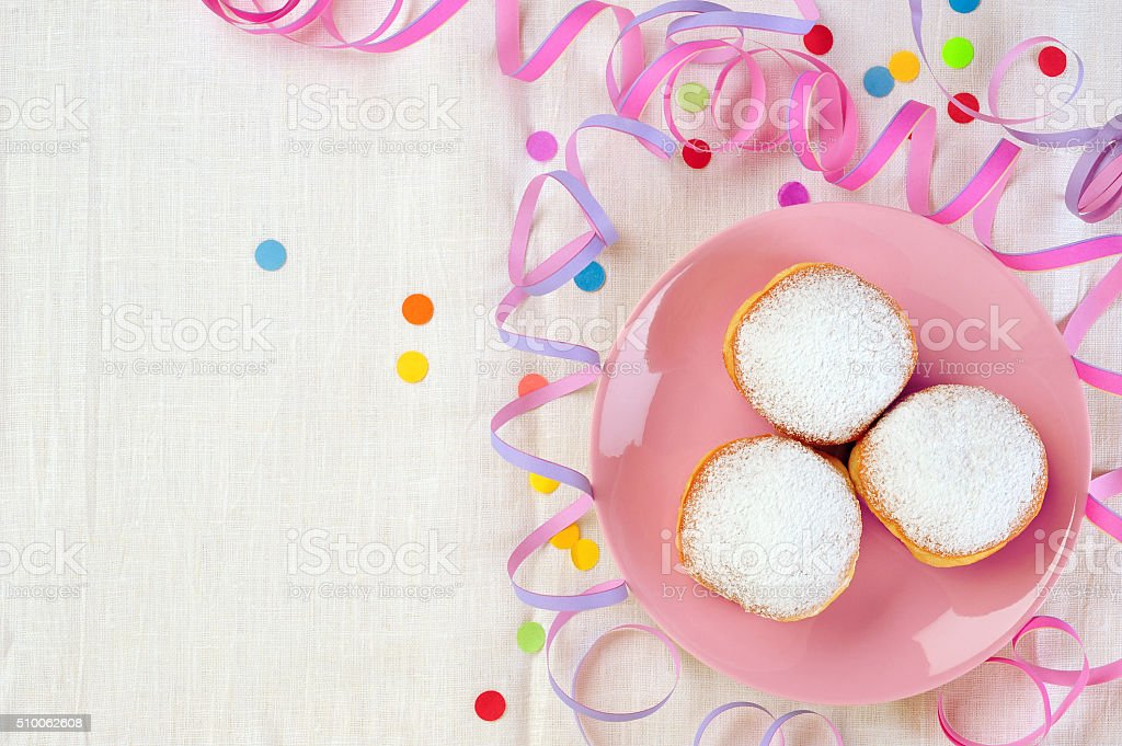 doughnuts on plate stock photo