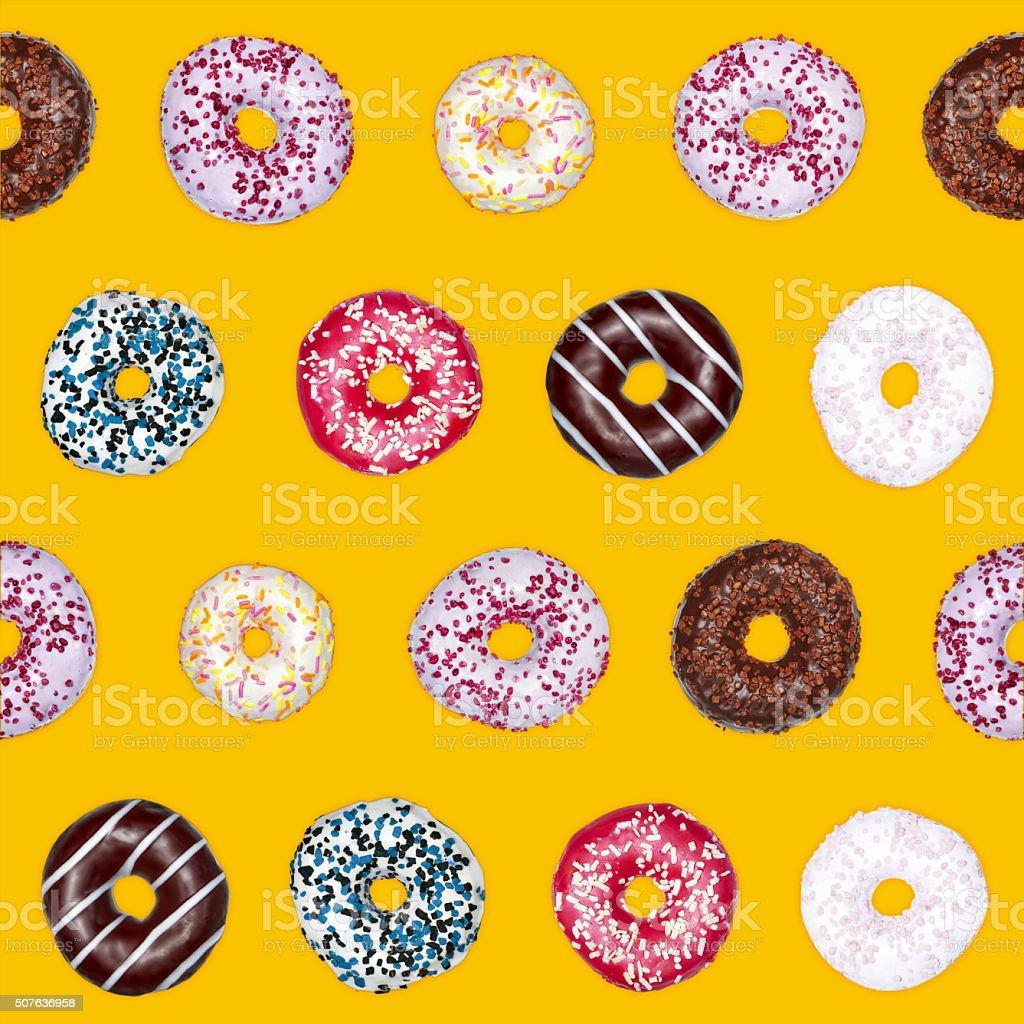 Doughnuts saemless pattern stock photo