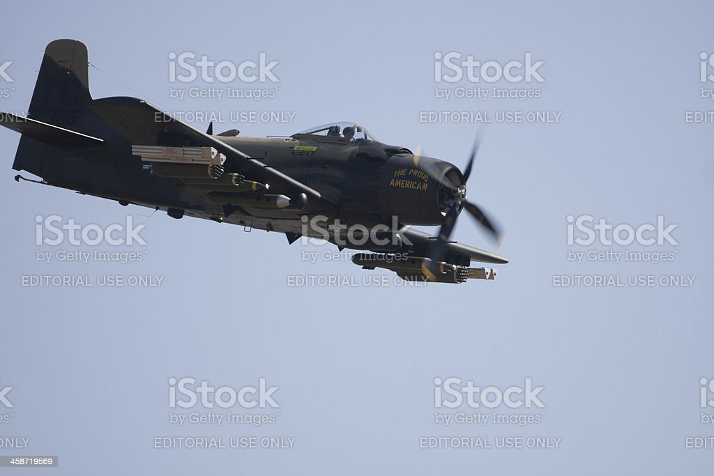 "Douglas A-1 Skyraider ""The Proud American"" stock photo"
