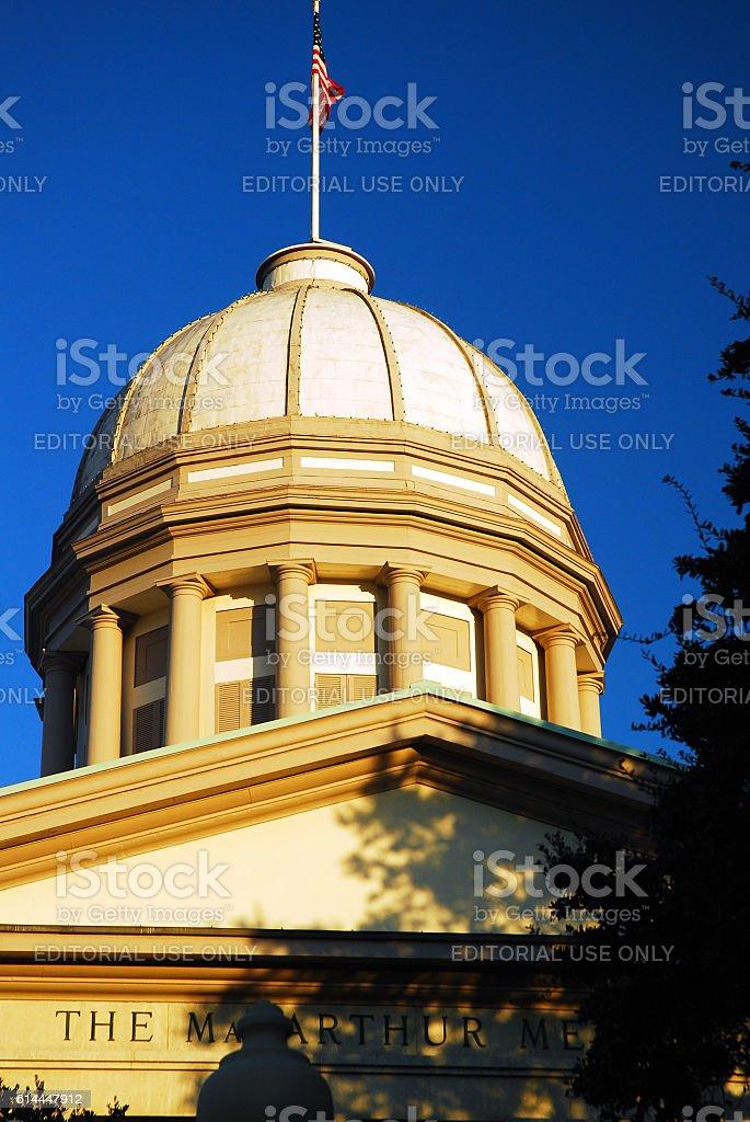 Douglas Arthur Memorial, Norfolk, Virginia stock photo