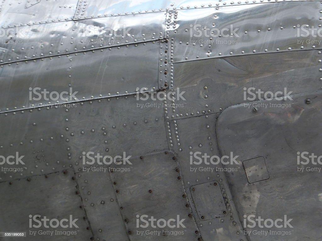 Douglas DC-3 riveted hull stock photo