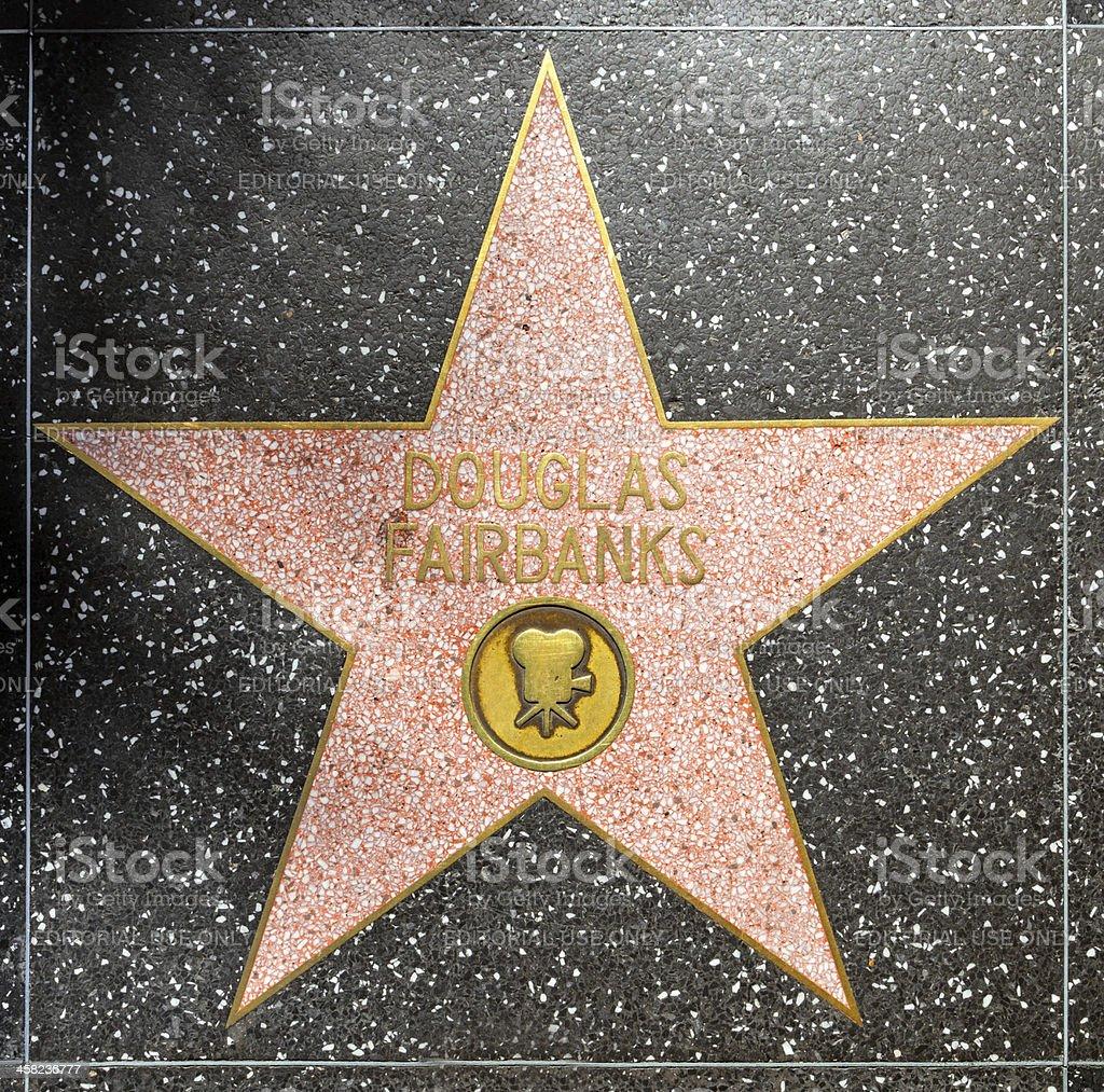 Douglas Fairbanks star on Hollywood Walk of Fame royalty-free stock photo