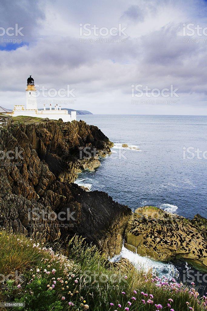 Douglas Lighthouse Isle of Man stock photo