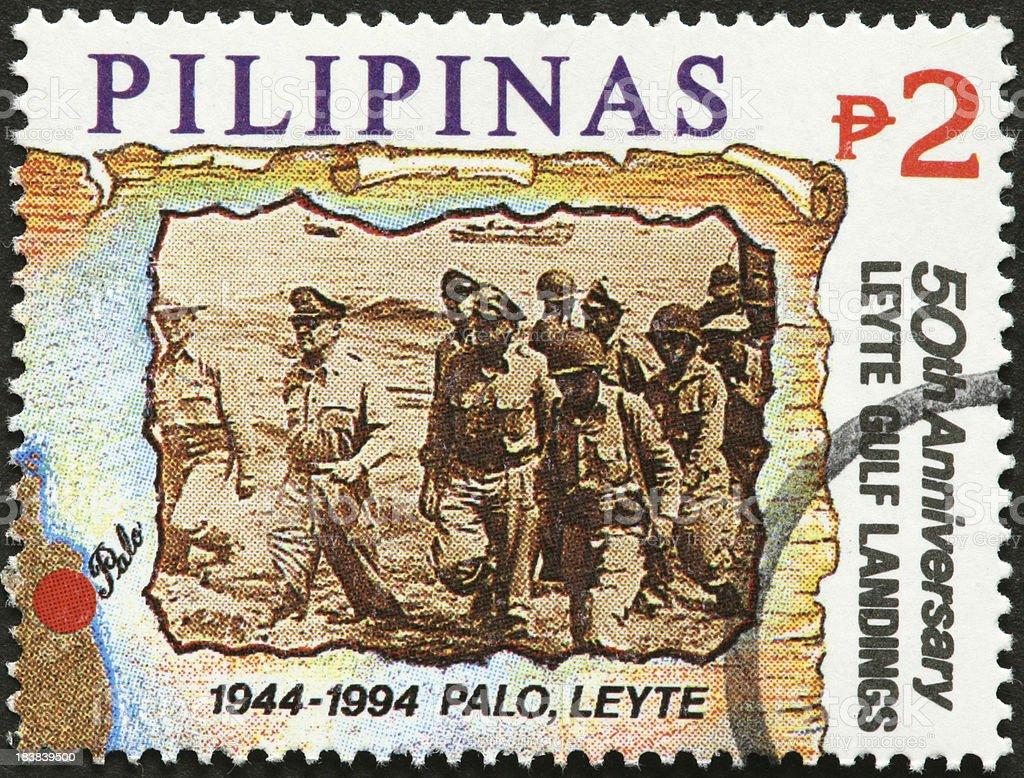 Douglas MacArthur, Leyte, Philippines 1944 stock photo