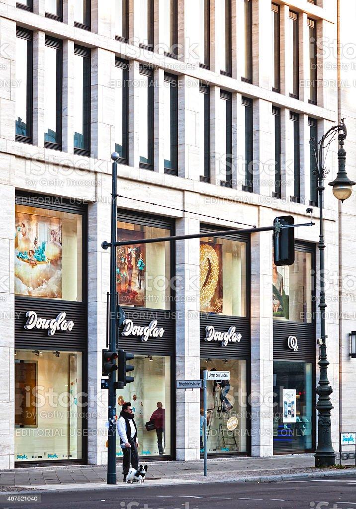 Douglas perfumery in Berlin stock photo