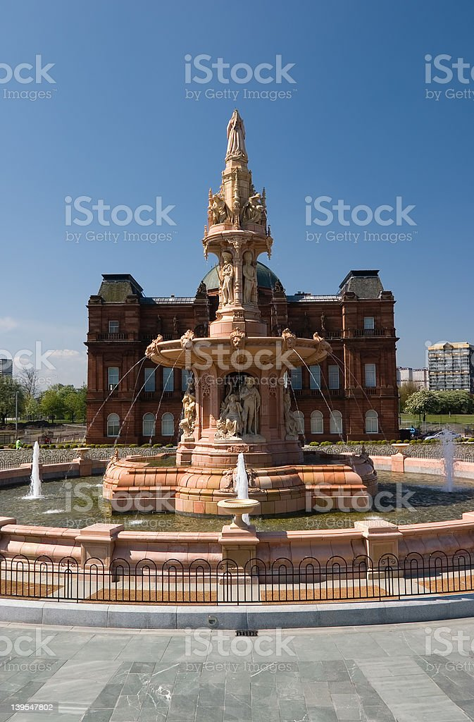 Doulton Fountain, Glasgow stock photo