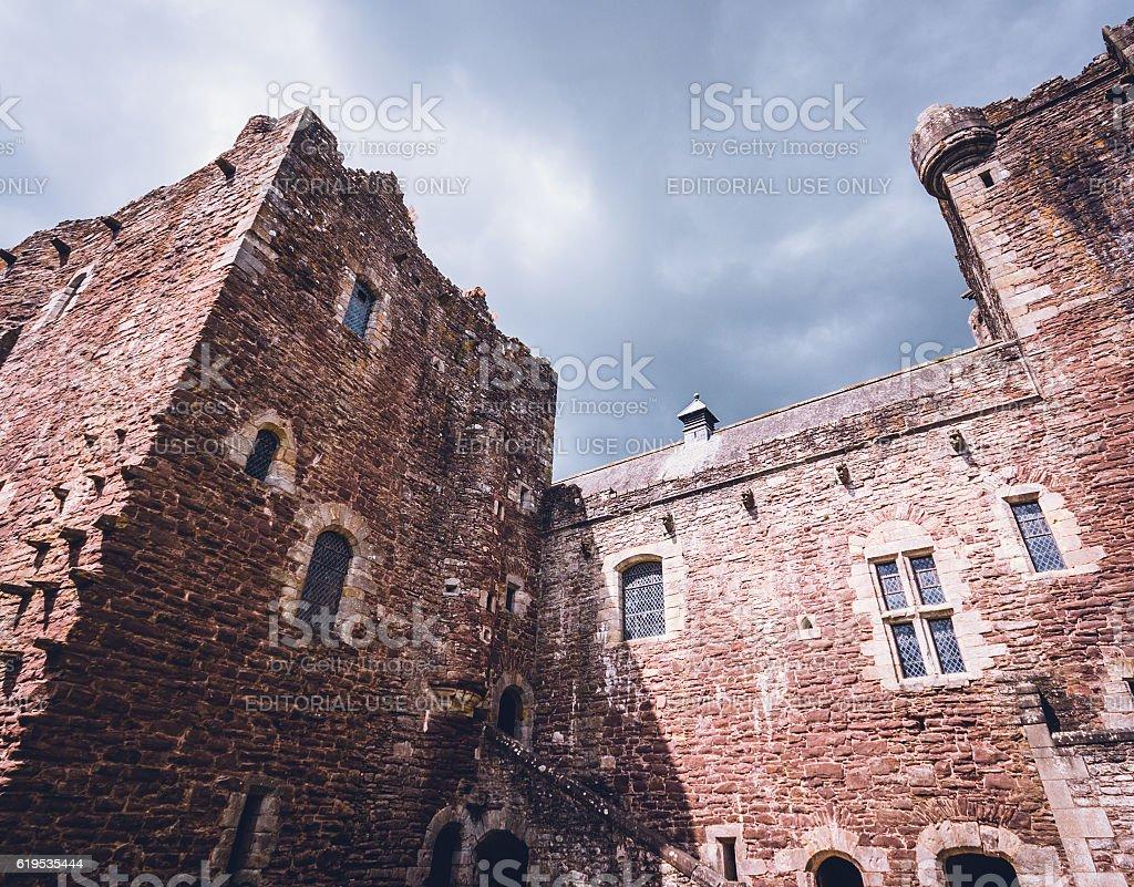 Doune Castle in Scotland stock photo