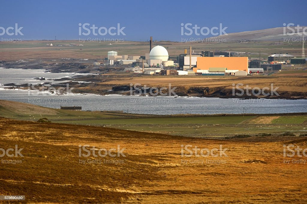 Dounreay Nuclear Power Plant - Scotland stock photo