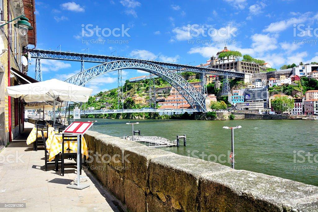 Douro River bank, Porto stock photo