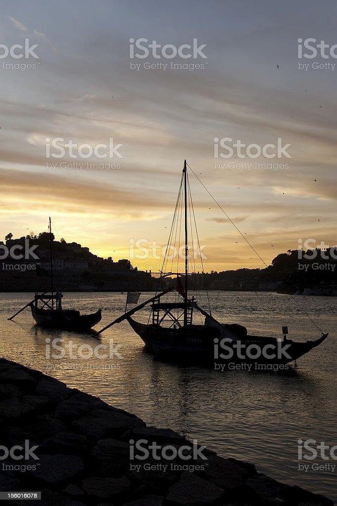 Douro river in Porto royalty-free stock photo