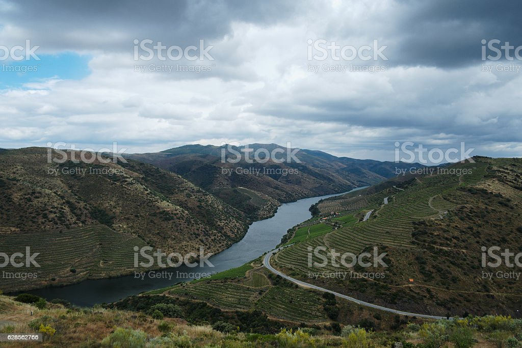 Douro River Valley in Portugal stock photo