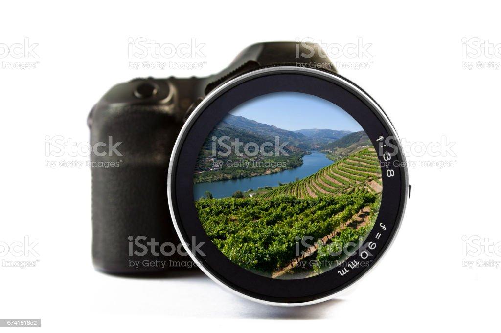 Douro Valley Seen Through a Lens of a Camera stock photo
