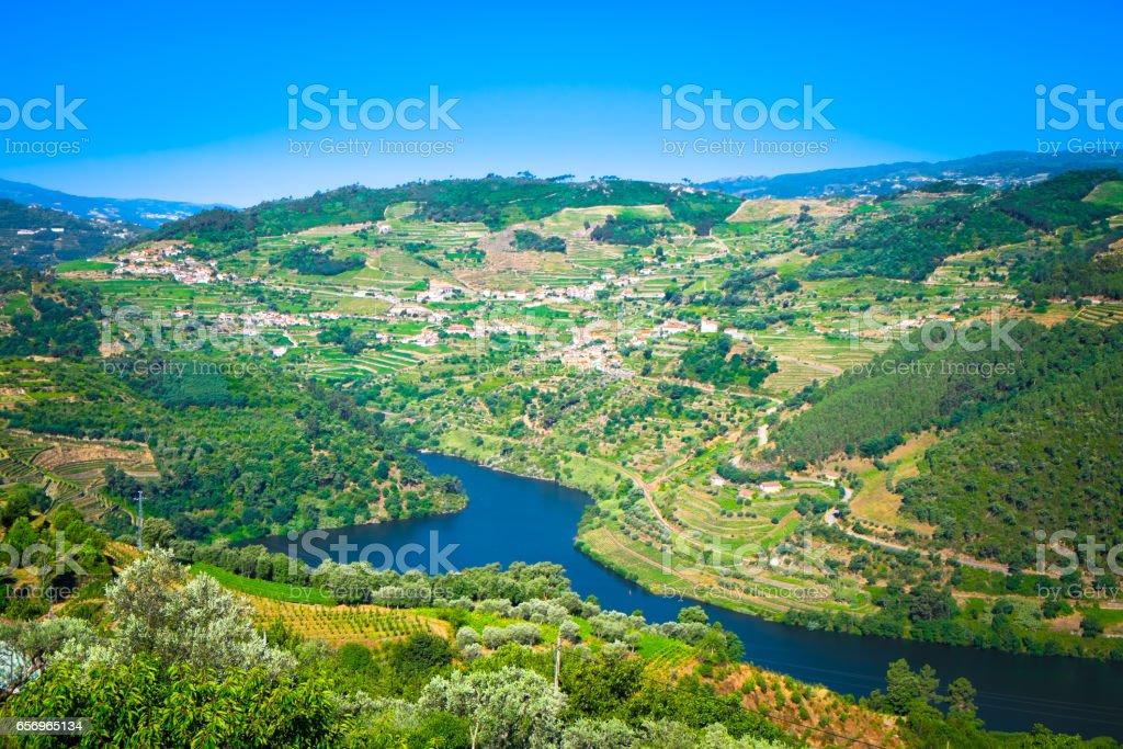 Douro Wine Region in Portugal stock photo