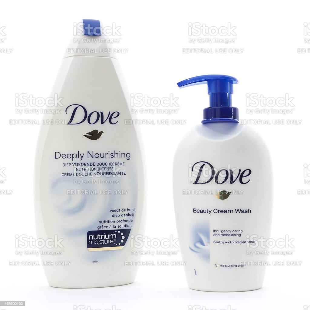 Dove Beauty Cream Wash and Shower Gel stock photo