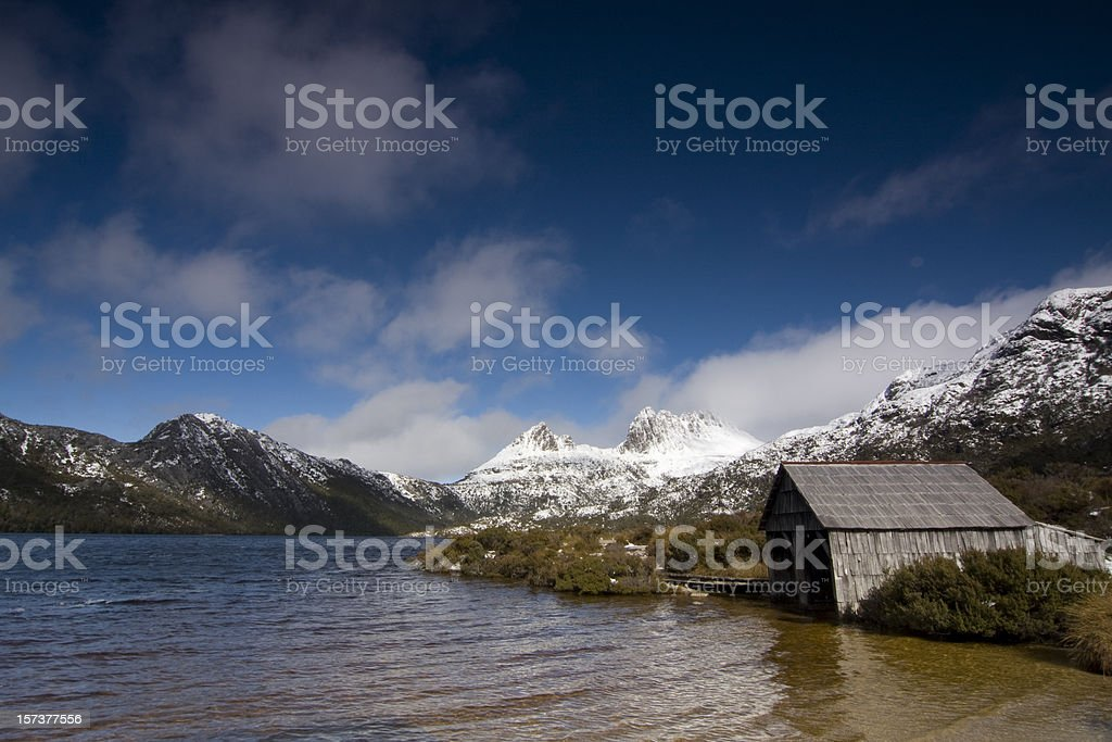Dove Lake Boat Shed stock photo