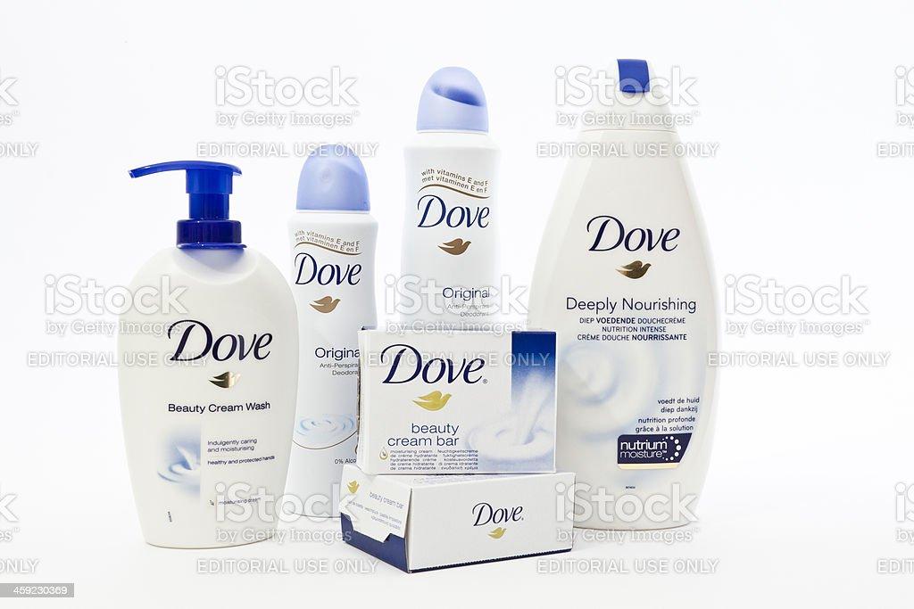Dove personal care stock photo