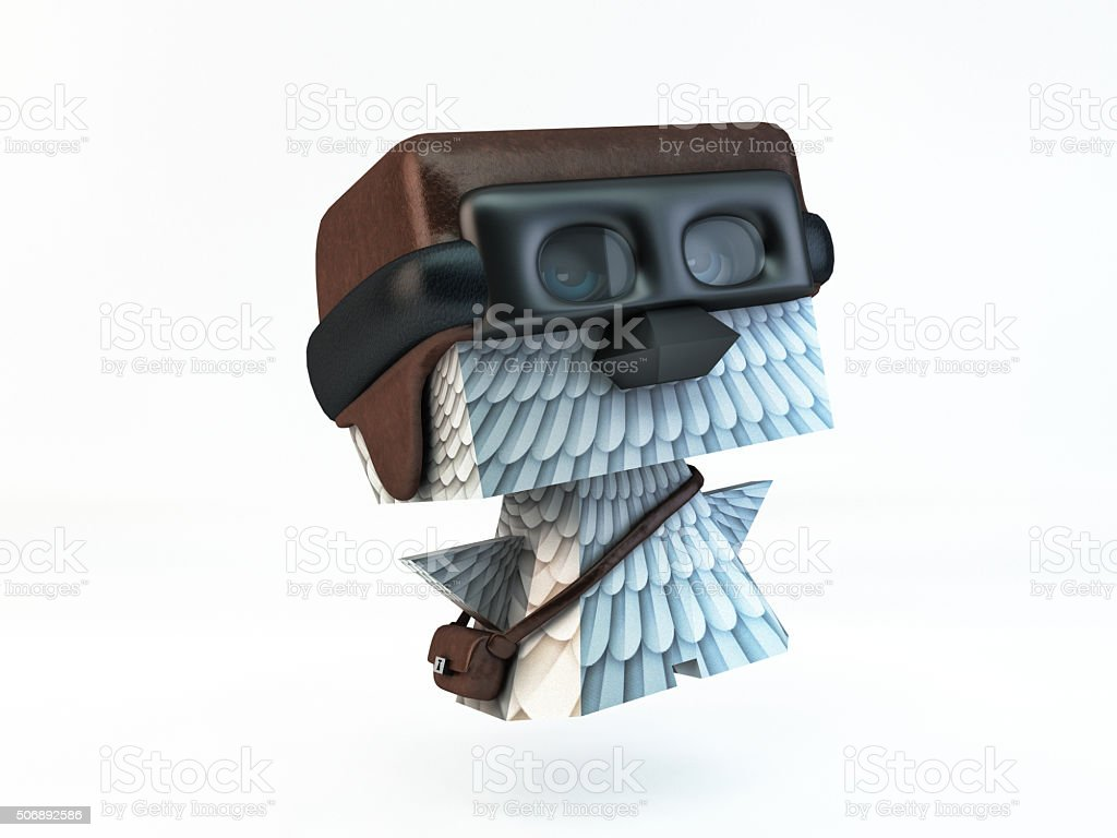 dove pigeon post carrier pilot bird character stock photo