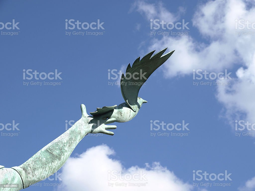 Dove Sculpture royalty-free stock photo